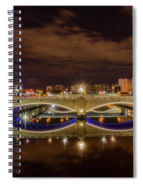 Market Street Bidge And 30th Street Station At Night Spiral Notebook