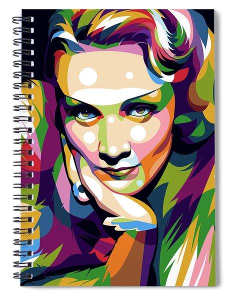 Marlene Dietrich Spiral Notebook