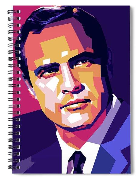 Marlon Brando Illustration Spiral Notebook