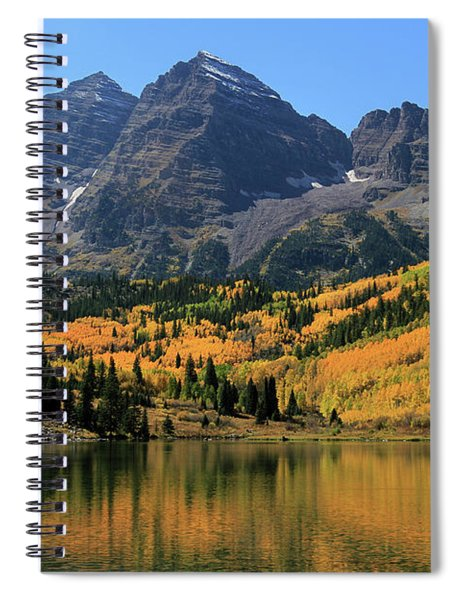 Maroon Bells In Fall Spiral Notebook