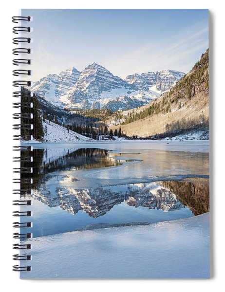 Maroon Bells Reflection Winter Spiral Notebook
