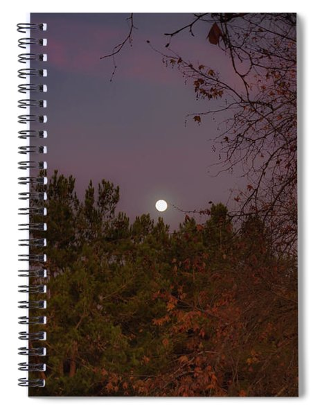 Spiral Notebook featuring the photograph Marvelous Moonrise by Alison Frank