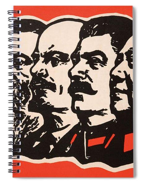 Marx Engels Lenin Stalin And Mao Spiral Notebook