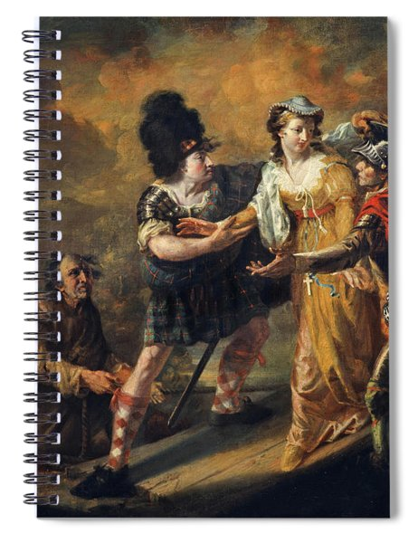 Mary, Queen Of Scots Escaping From Lochleven Castle, 1805 Spiral Notebook