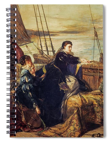 Mary, Queen Of Scots - The Farewell To France, 1867  Spiral Notebook