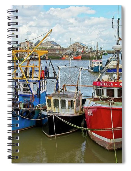 Maryport Fishing Boats Cumbria Spiral Notebook
