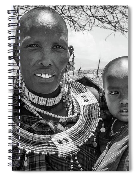 Masaai Mother And Child Spiral Notebook