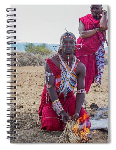Maasai Warrior Spiral Notebook