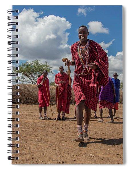 Maasai Welcome Spiral Notebook