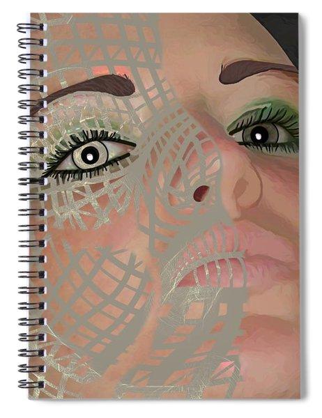 Mask Dark And Light Spiral Notebook