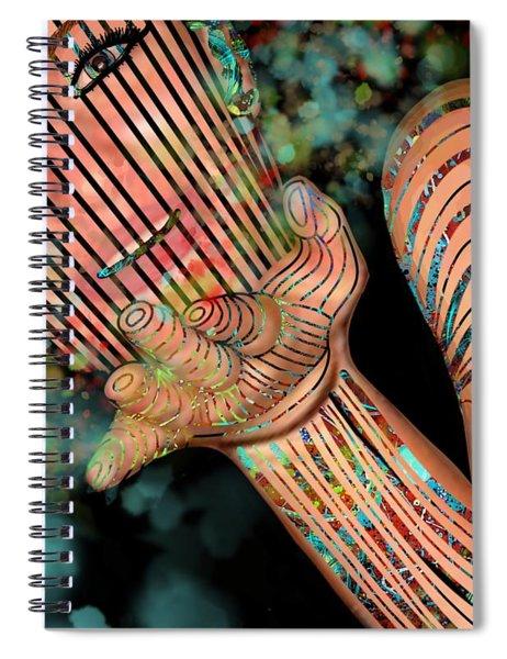Mask Fairy Dust Spiral Notebook