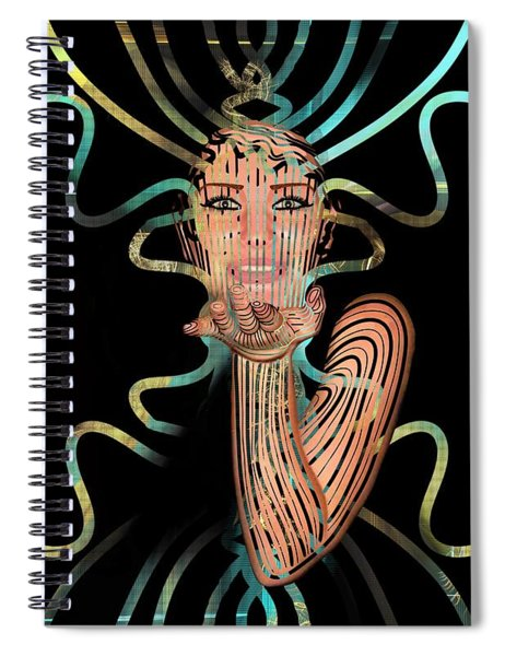 Mask I Cast My Spell You Are Mine Spiral Notebook