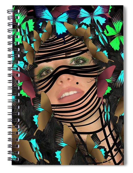 Mask Of Butterflies And Bondage Spiral Notebook