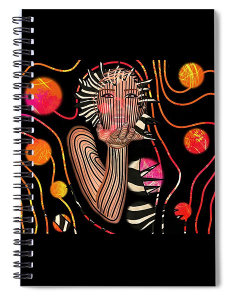 Mask Of The Sea Spiral Notebook