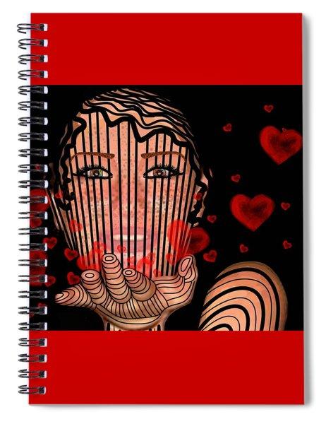 Mask Of Valentine Spiral Notebook