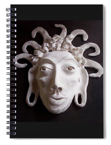 Mask The Aztec Spiral Notebook
