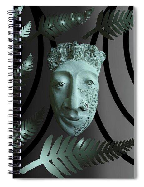 Mask The Maori Warrior Spiral Notebook