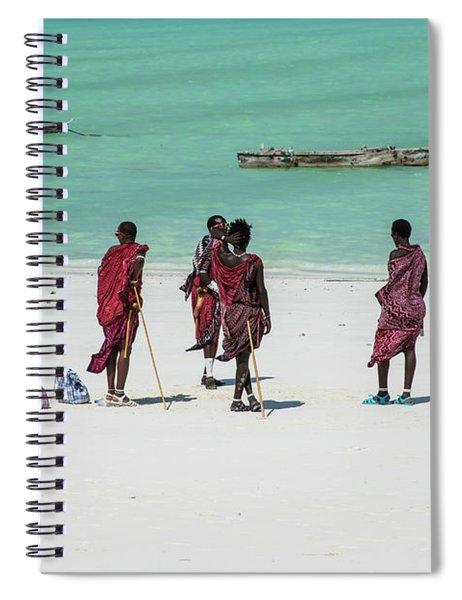 Massai At The Beach Spiral Notebook