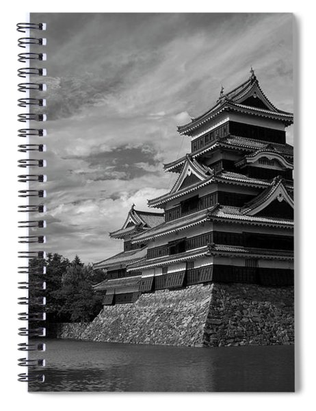 Matsumoto Castle Japan Black And White Spiral Notebook