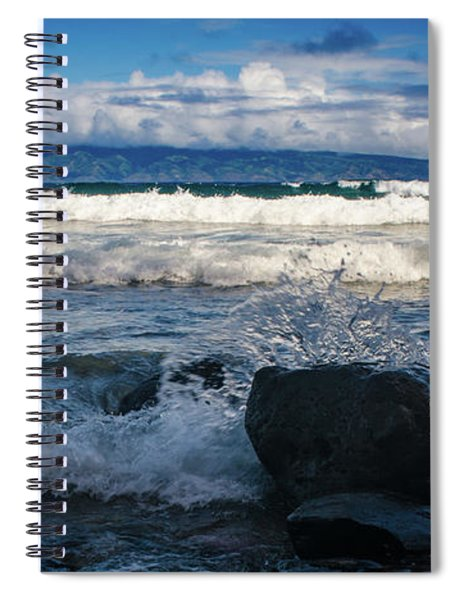 Maui Breakers Pano Spiral Notebook