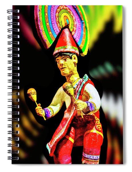 Mayan Dancer Spiral Notebook