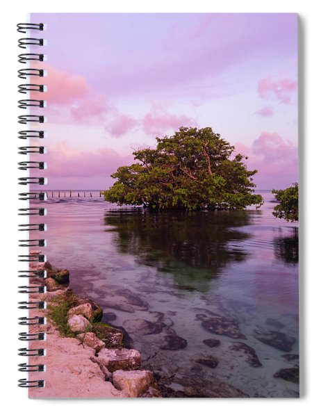 Mayan Sea Reflection Spiral Notebook