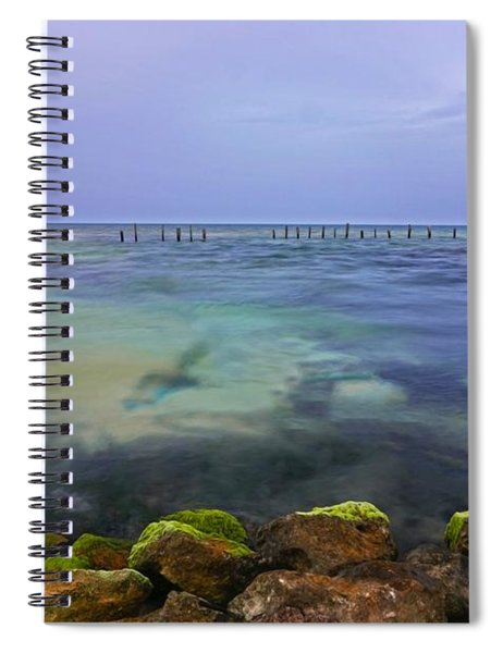 Mayan Sea Rocks Spiral Notebook