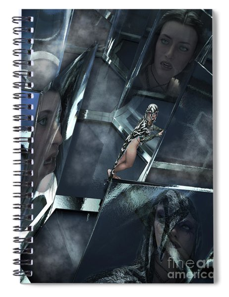 Maze Of The Mind Spiral Notebook