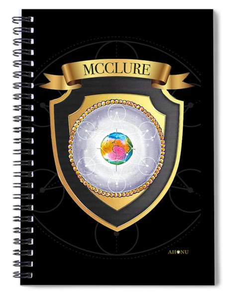 Mcclure Family Crest Spiral Notebook