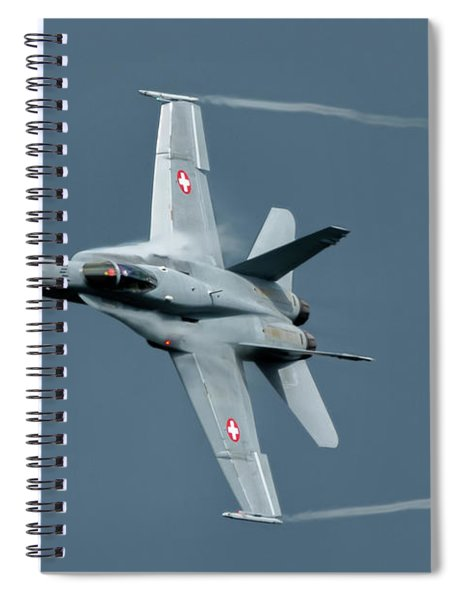 Mcdonnell Douglas F/a-18c Hornet At Raf Cosford 2019 Spiral Notebook by Scott Lyons