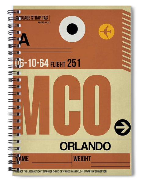 Mco Orlando Luggage Tag I Spiral Notebook