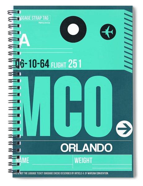 Mco Orlando Luggage Tag II Spiral Notebook