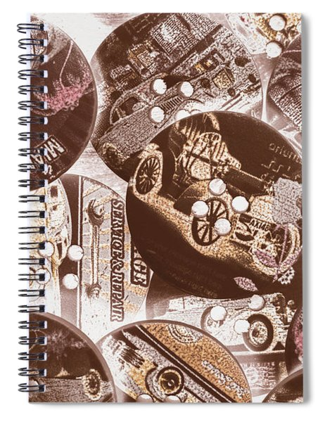 Mechanical Patchwork Spiral Notebook