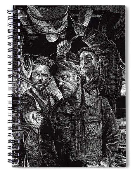 Mechanics Spiral Notebook by Clint Hansen