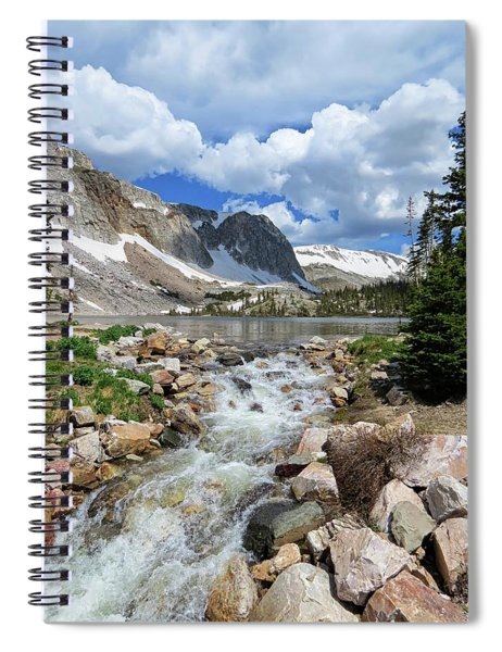 Medicine Bow Waterfall Spiral Notebook