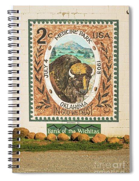 Medicine Park Stamp Mural Spiral Notebook