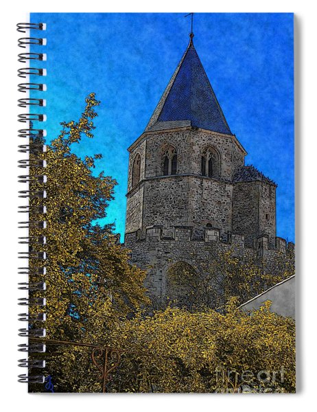 Medieval Bell Tower 3 Spiral Notebook