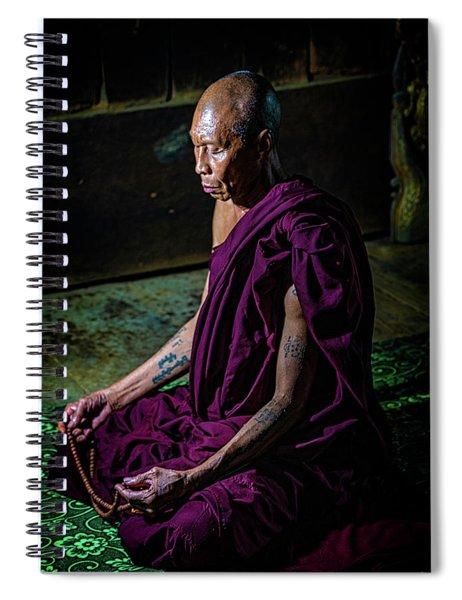 Meditating Buddhist Monk Spiral Notebook