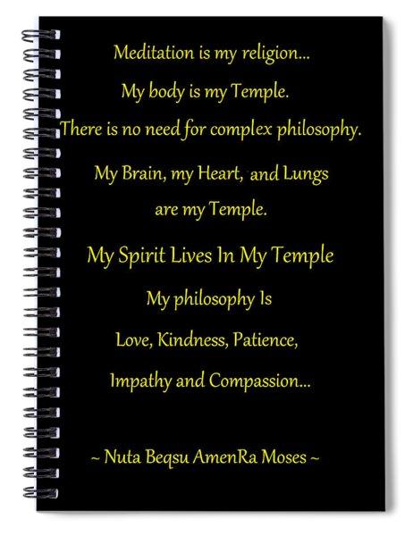 Meditation Is My Religion Spiral Notebook