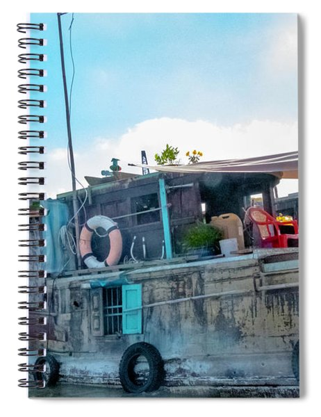 Mekong Delta Boat, Vietnam Spiral Notebook
