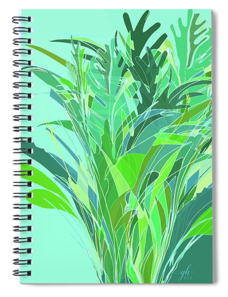 Spiral Notebook featuring the digital art Melange by Gina Harrison
