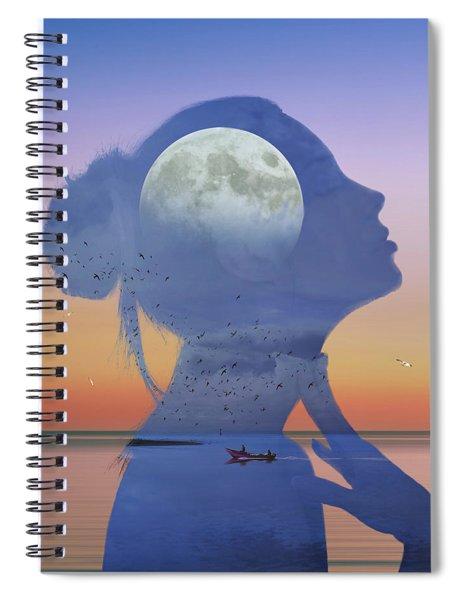 Melting Night Spiral Notebook
