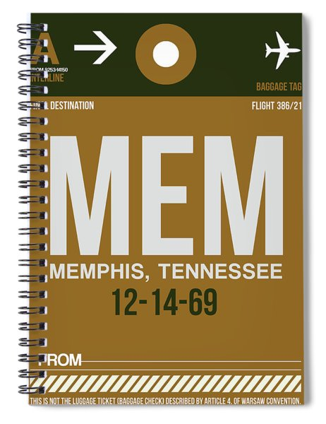 Mem Memphis Luggage Tag I Spiral Notebook