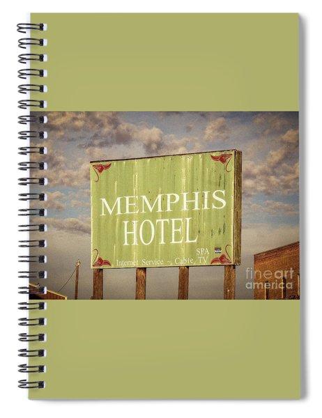 Memphis Hotel Sign Spiral Notebook