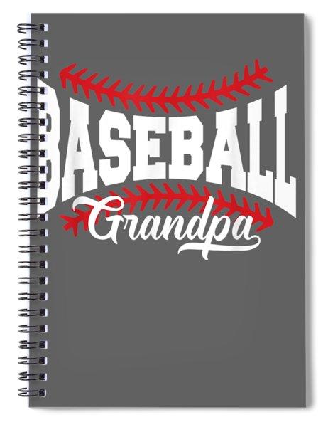 Mens Baseball Grandpa T-shirt Spiral Notebook