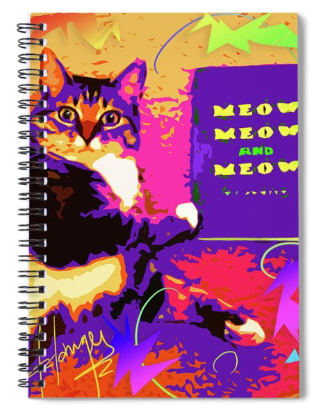 Meow, Meow And Meow Spiral Notebook
