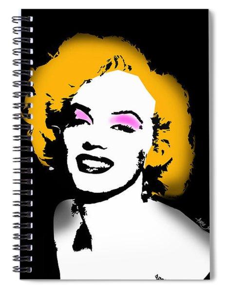 Merilyn Monroe Portrait By Artist Singh Spiral Notebook