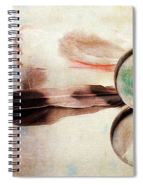 Messages From Above Spiral Notebook