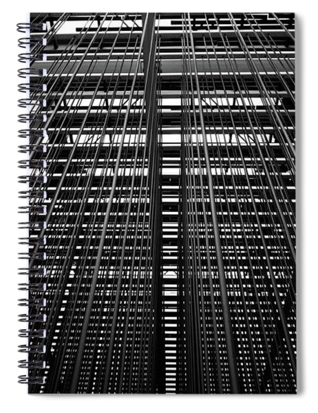 Metal Lines Spiral Notebook