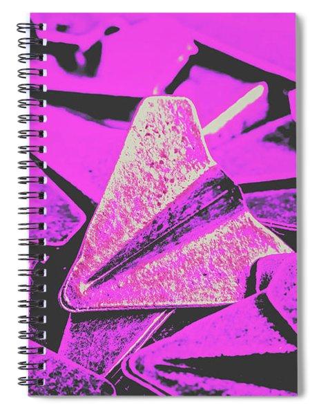 Metal Wings Spiral Notebook